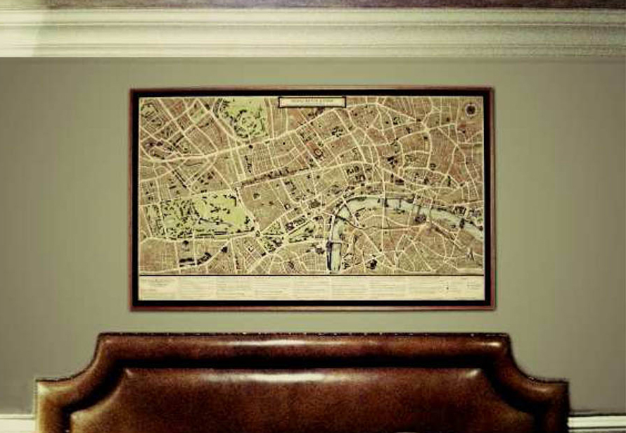 Grand Map of London Canvas Print in Hotel