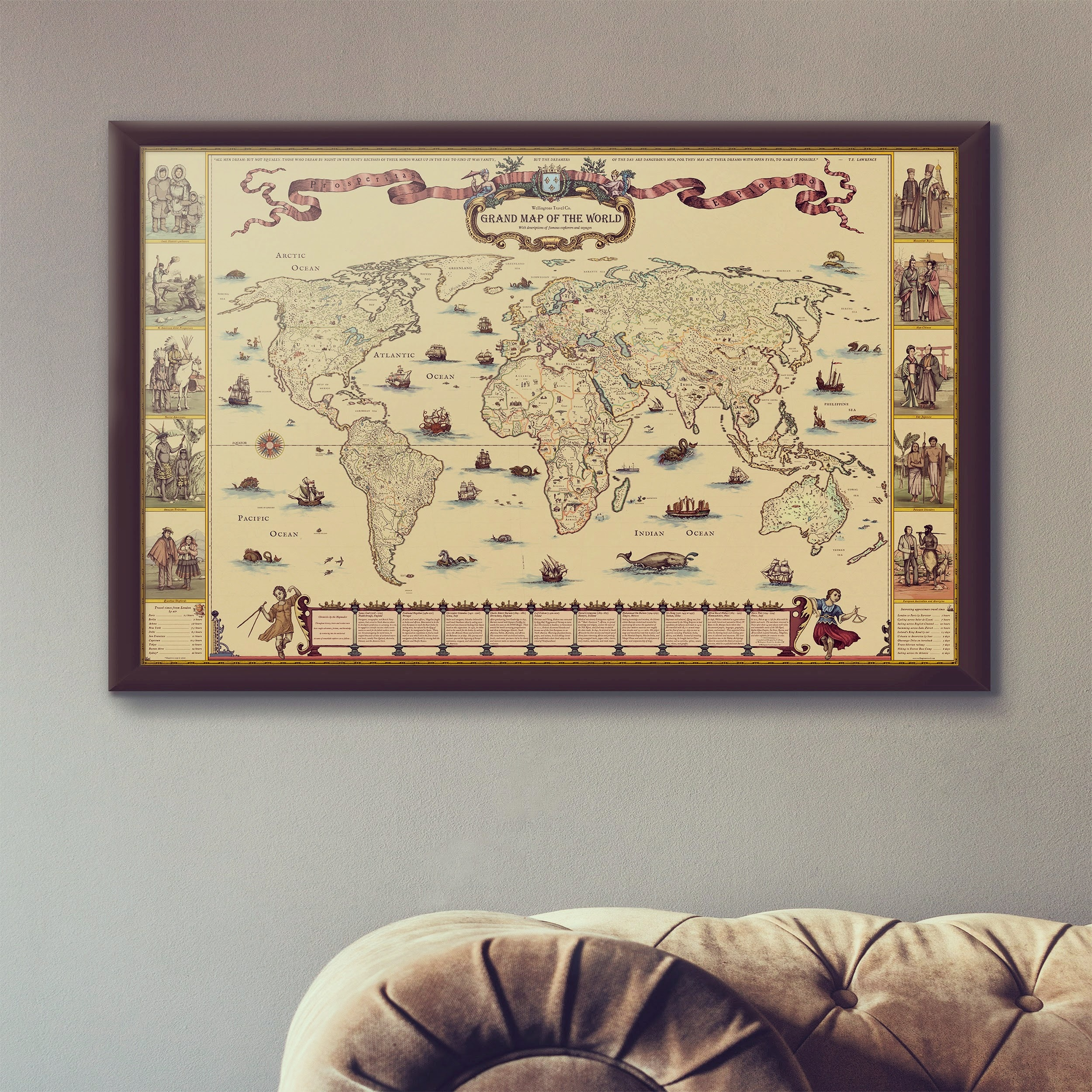 Old Grand World Map